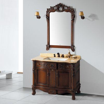 实木浴室柜_恒洁卫浴实木浴室柜简约生活范