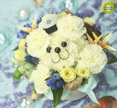 用鲜花做成的动物造型