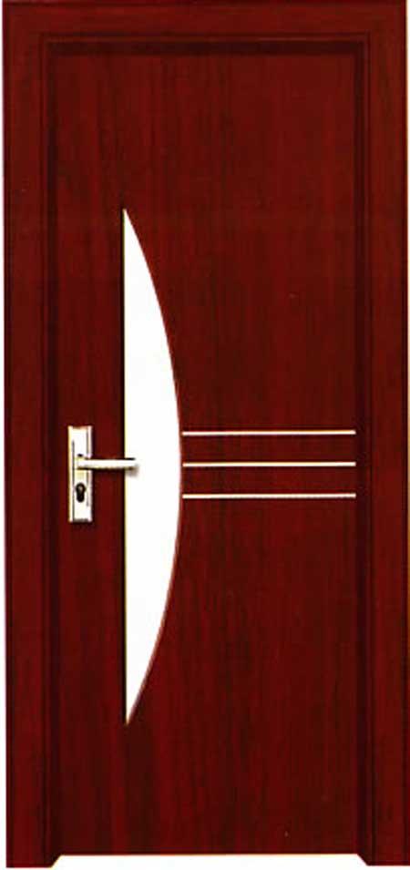暗红色门搭配图片
